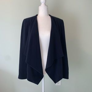 Zara Basic navy non closure drape blazer #3245